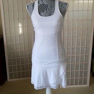 White head tennis dress